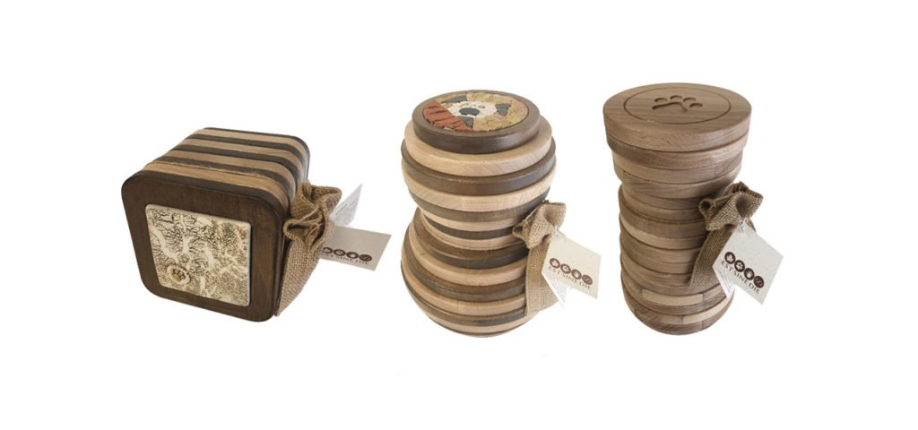 cremation urns for pets in solid wood